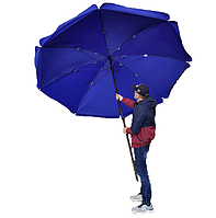Усиленный 3-х метровый садовый зонт прорезиненная ткань, 2х8 спиц, чехол, фото 1