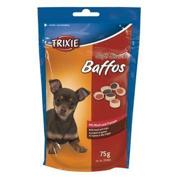 Лакомство для собак и щенков trixie Baffos говядина ,желудок 75г