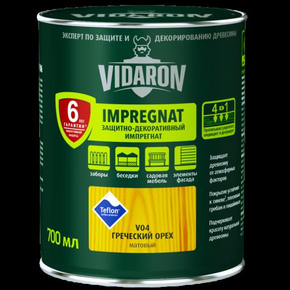 Vidaron Импрегнат (V13) защитно-декоративное средство 0,7л красный кедр Код УКТ ЗЕД 3208109090