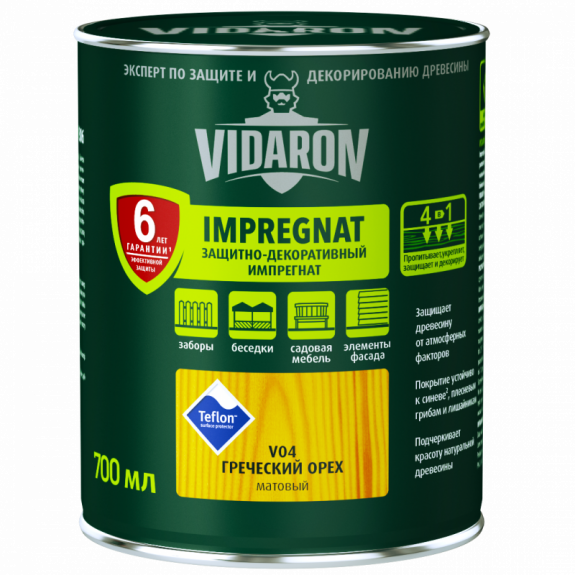 Vidaron Импрегнат (V13) защитно-декоративное средство 2,5л красный кедр Код УКТ ЗЕД 3208109090