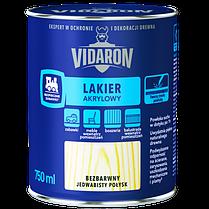 Vidaron Акриловий лак для деревини безбарвний шовк глянець 0,75 л. Код УКТ ЗЕД 3209100000