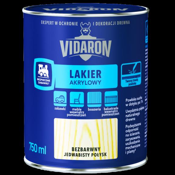 Vidaron Акриловий лак для деревини безбарвний шовк глянець 2,5л. Код УКТ ЗЕД 3209100000