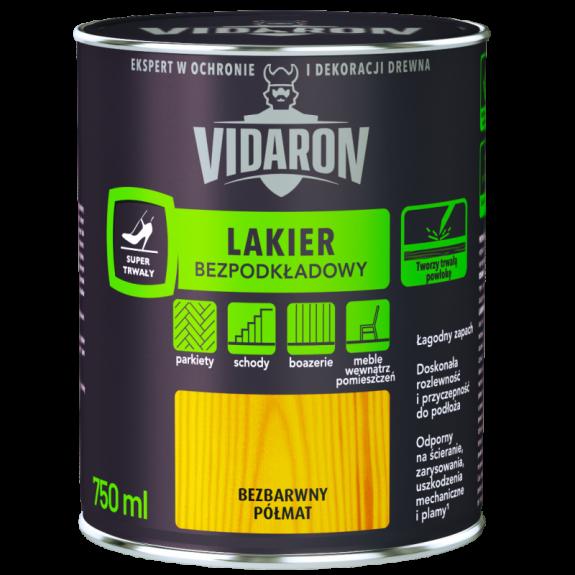 Vidaron Лак для паркету без грунтовки безбарвний півмат 2,5 л.