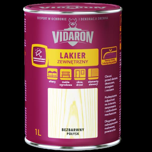 Vidaron Зовнішній лак для деревини безбарвний (глянець) 3л. Код УКТ ЗЕД 3208109090