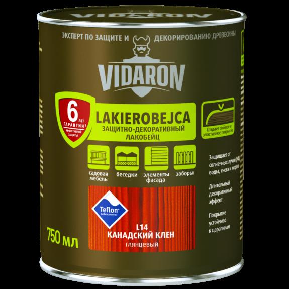 Vidaron Лакобейц (L02) защитно-декоративное средство 0,75л сосна золотистая Код УКТ ЗЕД 3208109090