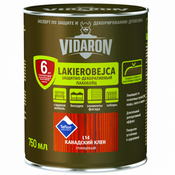 Vidaron Лакобейц (L17) защитно-декоративное средство 2,5л вибілений дуб Код УКТ ЗЕД 3208109090
