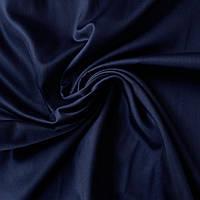 Сатин Люкс однотонный темно-синий, ширина 240 см, фото 1