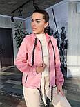 Замшевая женская кофта на молнии с капюшоном vN6913, фото 2