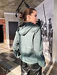 Замшевая женская кофта на молнии с капюшоном vN6913, фото 4
