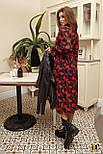 Принтованное шифоновое платье миди с рубашечным верхом vN6927, фото 2