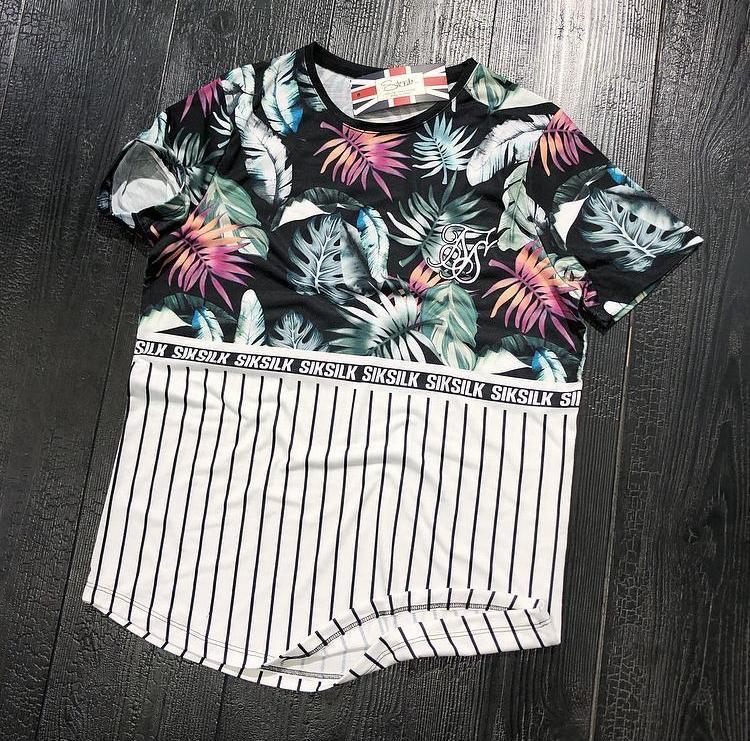 Мужская футболка Sik Silk M017 разноцветная