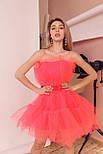 Фатиновое короткое платье с пышной юбкой и открытыми плечами vN6933, фото 2