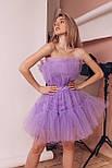 Фатиновое короткое платье с пышной юбкой и открытыми плечами vN6933, фото 3