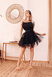 Фатиновое короткое платье с пышной юбкой и открытыми плечами vN6933, фото 4