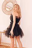 Фатиновое короткое платье с пышной юбкой и открытыми плечами vN6933, фото 5