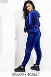 Женский велюровый спортивный костюм в больших размерах с худи vN6968, фото 4