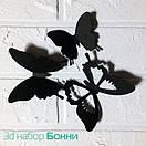 Набор 3д бабочек для декора Бонни, объемные бабочки из картона на скотче, метелики 3d, фото 3