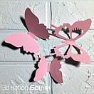 Набор 3д бабочек для декора Бонни, объемные бабочки из картона на скотче, метелики 3d, фото 6