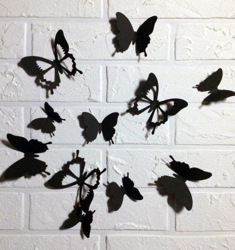 Набор 3д бабочек для декора Бонни, объемные бабочки из картона на скотче, метелики 3d
