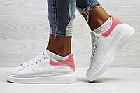 Кроссовки Alexander McQueen, белые с розовым