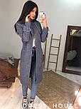 Женское пальто на запах из шерсти с поясом и отложным воротником vN6983, фото 2