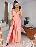 Длинное пышное платье с блестками и верхом на запах без рукава vN7002, фото 5