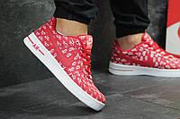 Кроссовки Nike Air Force 1 красные с белым