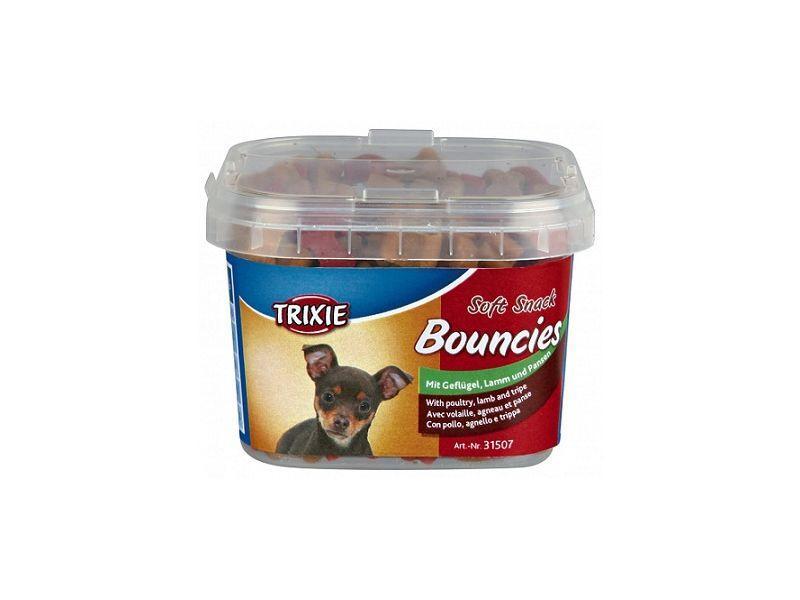 Лакомство для собак и щенков trixie Bouncies ведро пластик 140г