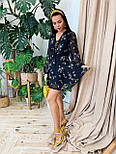 Шифоновое платье с расклешенной юбкой и длинным рукавом фонариком vN7063, фото 2