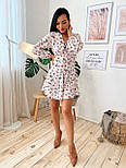 Шифоновое платье с расклешенной юбкой и длинным рукавом фонариком vN7063, фото 6