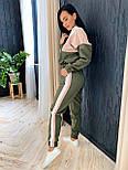 Женский спортивный костюм из костюмной ткани со свободным худи vN7067, фото 4