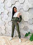 Женский спортивный костюм из костюмной ткани со свободным худи vN7067, фото 6