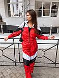 Женский спортивный костюм из плащевки со спорт сеткой vN7068, фото 2