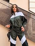 Женский спортивный костюм из плащевки со спорт сеткой vN7068, фото 3