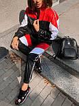 Женский спортивный костюм из плащевки со спорт сеткой vN7068, фото 4