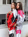 Женский спортивный костюм из плащевки со спорт сеткой vN7068, фото 5