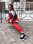 Женский спортивный костюм из плащевки со спорт сеткой vN7068, фото 6