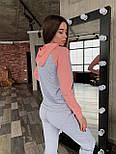 Женский спортивный костюм из двухнитки с худи vN7071, фото 3