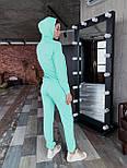 Женский спортивный костюм из двухнитки с худи vN7071, фото 6