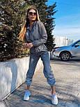 Женский светоотражающий спортивный костюм с укороченной мастеркой vN7074, фото 2