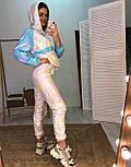 Легкий женский спортивный костюм из плащевки с худи vN7075, фото 2