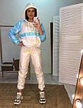 Легкий женский спортивный костюм из плащевки с худи vN7075, фото 3