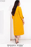 Прямое свободное платье миди в больших размерах с рубашечным верхом vN7112, фото 2