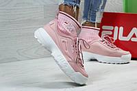 Кроссовки Fila с носком, розовые