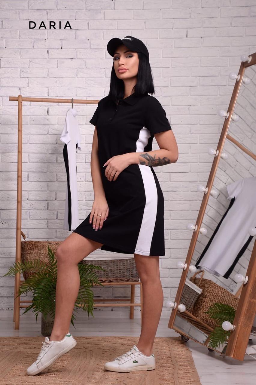 Прямое спортивное платье поло с рубашечным воротником и лампасами vN7140
