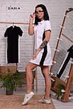 Прямое спортивное платье поло с рубашечным воротником и лампасами vN7140, фото 2