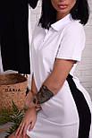 Прямое спортивное платье поло с рубашечным воротником и лампасами vN7140, фото 3