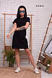 Прямое спортивное платье поло с рубашечным воротником и лампасами vN7140, фото 4