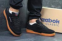 Кроссовки замшевые Reebok, черные