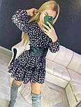Принтованное платье с расклешенной юбкой и оборкой vN7144, фото 5